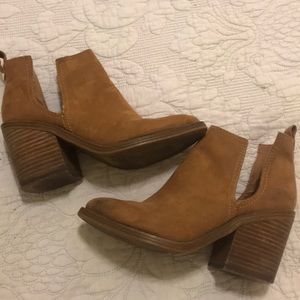 Tan Cut Out booties